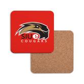 Hardboard Coaster w/Cork Backing-SIUE Cougars Official Logo