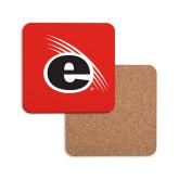 Hardboard Coaster w/Cork Backing-e Slash Mark