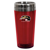 Solano Acrylic Red Tumbler 16oz-SIUE Cougars Official Logo
