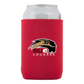 Neoprene Red Can Holder-SIUE Cougars Official Logo