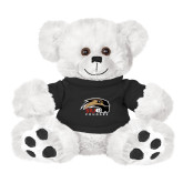 Plush Big Paw 8 1/2 inch White Bear w/Black Shirt-SIUE Cougars Official Logo