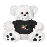 Plush Big Paw 8 1/2 inch White Bear w/Black Shirt-SIUE Cougars Official Logo
