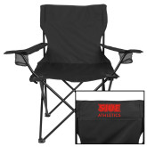 Deluxe Black Captains Chair-SIUE