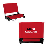 Stadium Chair Red-SIUE Cougars Stacked
