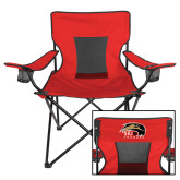 Deluxe Red Captains Chair-SIUE Cougars Official Logo