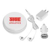 3 in 1 White Audio Travel Kit-SIUE