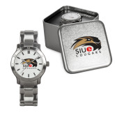 Mens Stainless Steel Fashion Watch-SIUE Cougars Official Logo