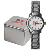 Mens Stainless Steel Fashion Watch-SIUE Arched Cougars