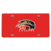 License Plate-SIUE Cougars Official Logo