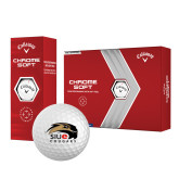 Callaway Chrome Soft Golf Balls 12/pkg-SIUE Cougars Official Logo