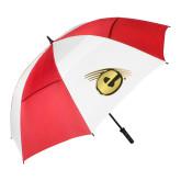 62 Inch Red/White Vented Umbrella-Gold E