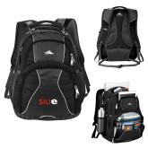 High Sierra Swerve Black Compu Backpack-SIUE