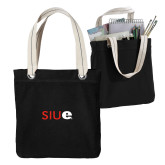 Allie Black Canvas Tote-SIUE