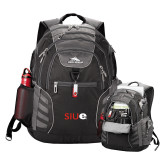 High Sierra Big Wig Black Compu Backpack-SIUE