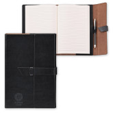 Fabrizio Junior Black Portfolio w/Loop Closure-Seal with College Name Engraved