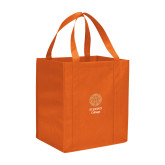 Non Woven Orange Grocery Tote-Seal with College Name