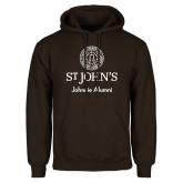 Brown Fleece Hoodie-Johnnie Alumni