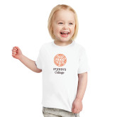 Toddler White T Shirt-Seal with College Name