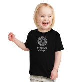 Toddler Black T Shirt-Seal with College Name