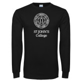 Black Long Sleeve T Shirt-Seal with College Name