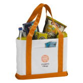 Contender White/Orange Canvas Tote-Seal with College Name