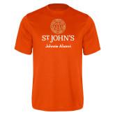 Performance Orange Tee-Johnnie Alumni
