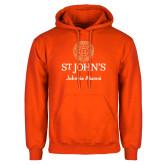 Orange Fleece Hoodie-Johnnie Alumni