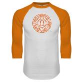 White/Orange Raglan Baseball T Shirt-Seal