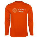Performance Orange Longsleeve Shirt-Lock Up Horizontal