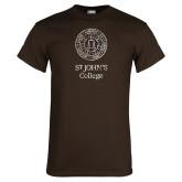 Brown T Shirt-Seal Lockup Distressed