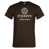 Brown T Shirt-Johnnie Alumni