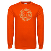 Orange Long Sleeve T Shirt-Seal
