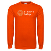 Orange Long Sleeve T Shirt-Lock Up Horizontal