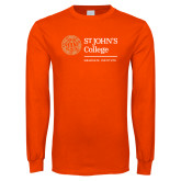 Orange Long Sleeve T Shirt-Seal Graduate Institute  Horizontal