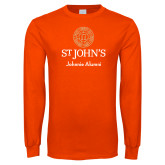 Orange Long Sleeve T Shirt-Johnnie Alumni