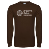 Brown Long Sleeve T Shirt-Annapolis Santa Fe Horizontal