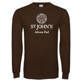Brown Long Sleeve T Shirt-Johnnie Dad