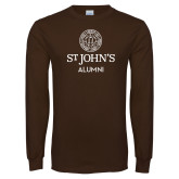Brown Long Sleeve T Shirt-Alumni