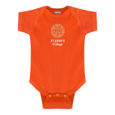 Orange Infant Onesie-Seal with College Name