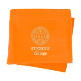 Orange Sweatshirt Blanket-Seal with College Name