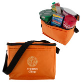 Six Pack Orange Cooler-Seal with College Name