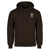 Brown Fleece Hoodie-Seal with College Name