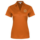 Ladies Orange Performance Fine Jacquard Polo-Seal