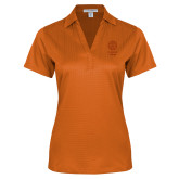 Ladies Orange Performance Fine Jacquard Polo-Seal with College Name
