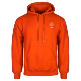 Orange Fleece Hoodie-Seal with College Name