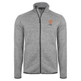 Grey Heather Fleece Jacket-Seal with College Name