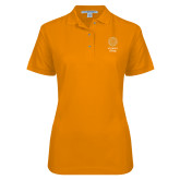 Ladies Easycare Orange Pique Polo-Seal with College Name
