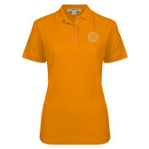 Ladies Easycare Orange Pique Polo-Seal