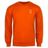 Orange Fleece Crew-Seal with College Name