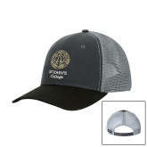 DRI DUCK Hudson Charcoal/Black Trucker Hat-Seal with College Name